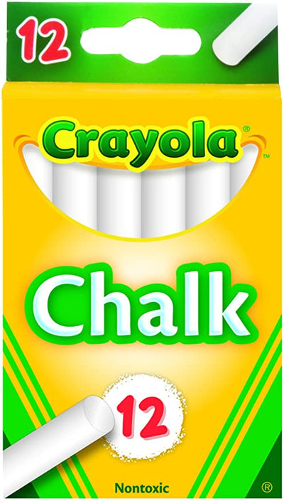 CRAYOLA WHITE CHALK 12 UNITS
