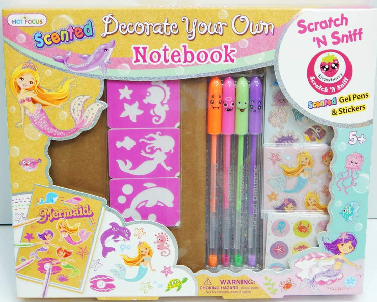 Scented Decorate Your Own Notebook Mermaid