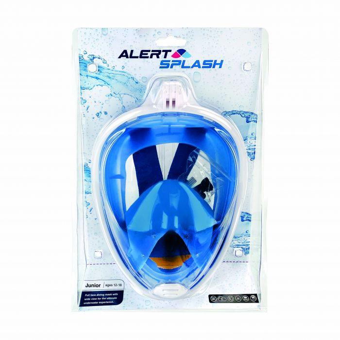 Alert Splash Blue Snorkel Mask S/M