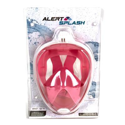 Alert Splash Pink Snorkel Mask L/XL