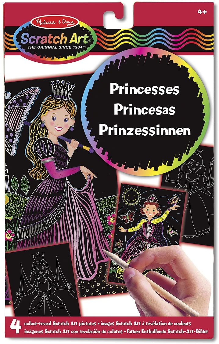 MELISSA & DOUG SCRATCH ART PRINCESSES