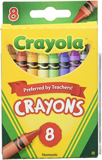CRAYOLA CRAYONS 8 COLORS