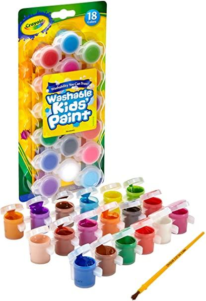 CRAYOLA WATERSHABLE KIDS PAINT WITH BRUSH