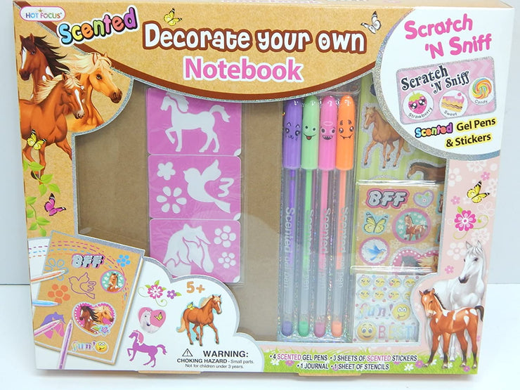 Scented Decorate Your Own Notebook Enchanted Horse