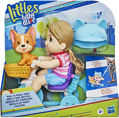 LITTLE BY BABY ALIVE ROLL 'N PEDAL TRIKE