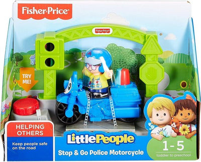 FISHER PRICE LITTLE PEOPLE SMALL STOP & GO POLICE MOTORCYCLE