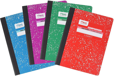 MEAD 3 SUBJECT NOTEBOOK 120 SHEETS/240 PAGES