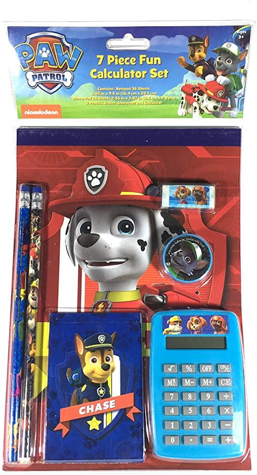 Paw Patrol 7 Piece Fun Calculator Set