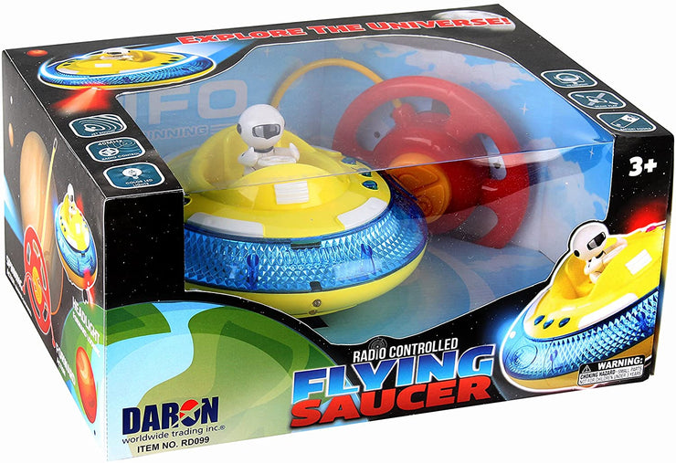 RADIO CONTROL FLYING SAUCER W/LIGHT & SOUND