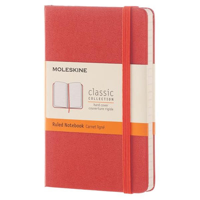 MOLESKINE NOTEBOOK HARD COVER RED A-5 LINED