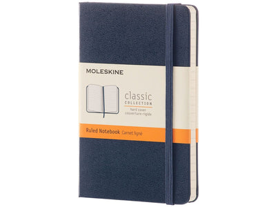 MOLESKINE NOTEBOOK HARD COVER BLUE A-6 RULED