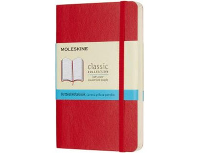 MOLESKINE NOTEBOOK SOFT COVER RED A-6 DOTTED