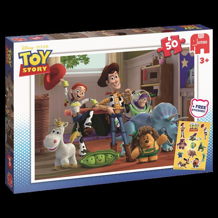 Jumbo Toy Story Puzzle 50pcs with Stickers