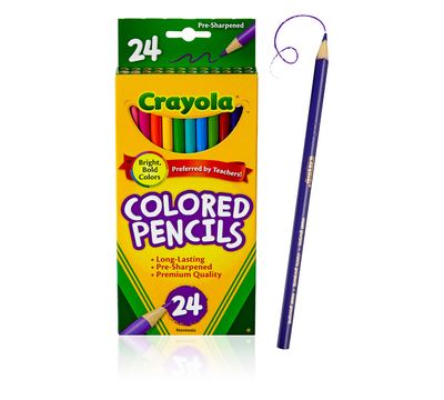 CRAYOLA COLORED PENCIL 24 UNITS