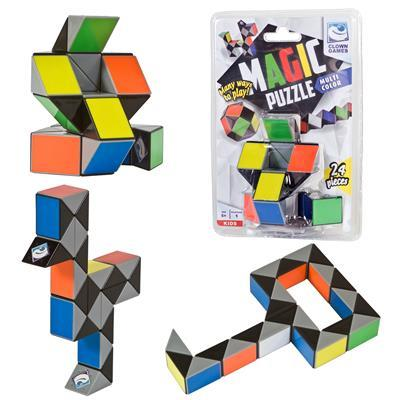 Clown Games Magic Puzzle Snake Multicolor 24pcs