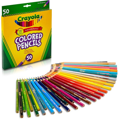 CRAYOLA COLORED PENCIL 50 UNITS