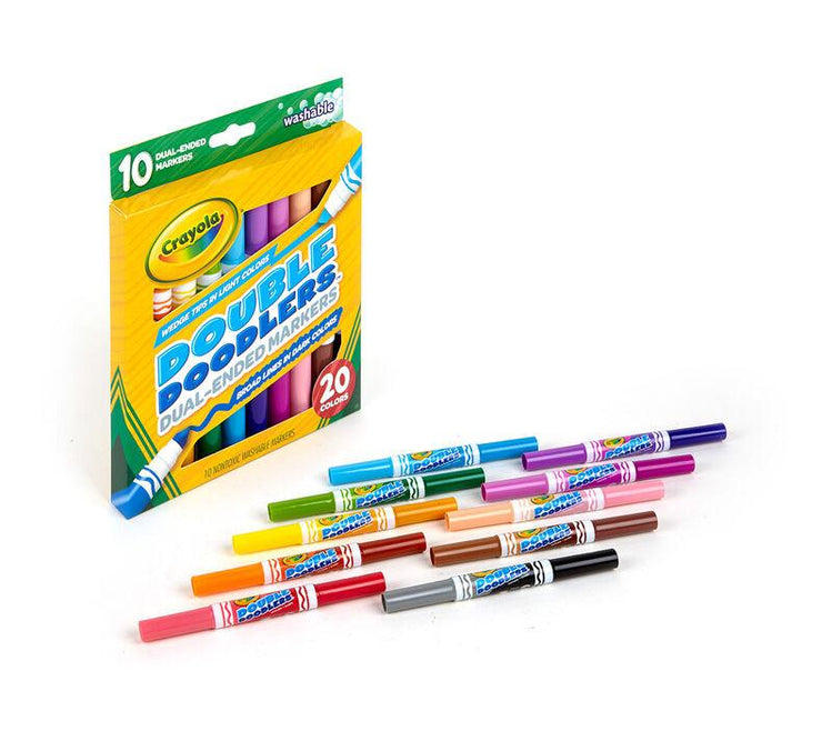 CRAYOLA DOUBLE DOODLERS MARKERS 10 UNITS