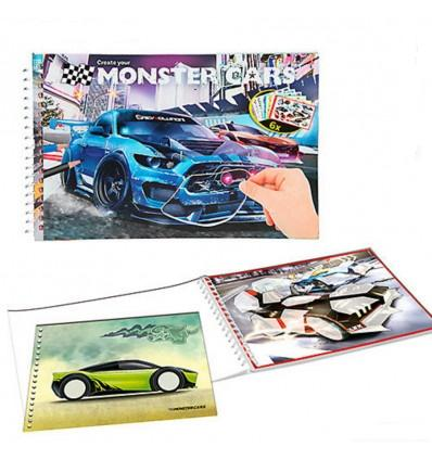MONSTER CARS POCKET KLEURBOEK