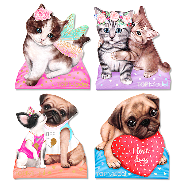 TOP MODEL KITTY & DOGGY MEMO PAD