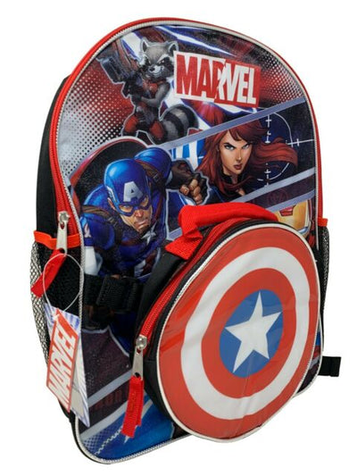 "AVENGERS 16"" BACKPACK W/LUNCH BAG"