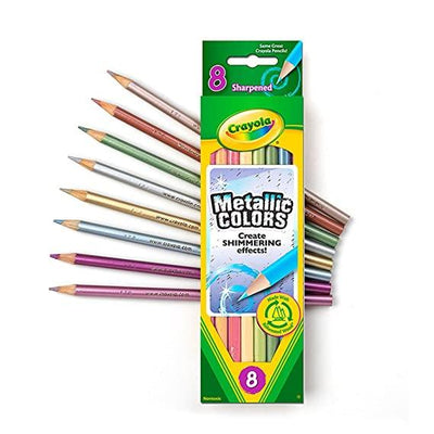 CRAYOLA METALIC PENCIL 8