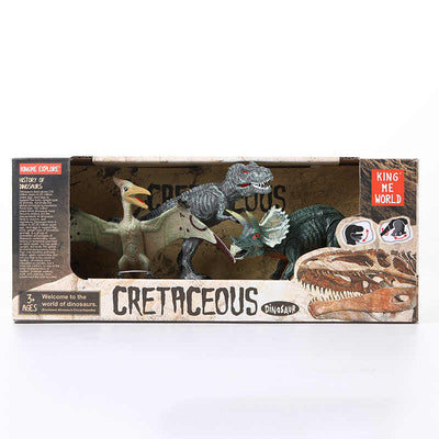 3PACK DINOSAURS IN BOX