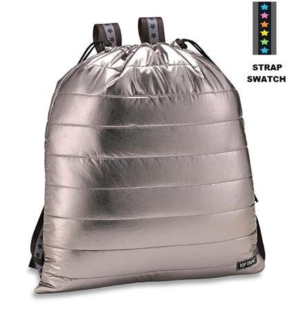Top Tenz Metallic Puffer Sling Backpack Bag