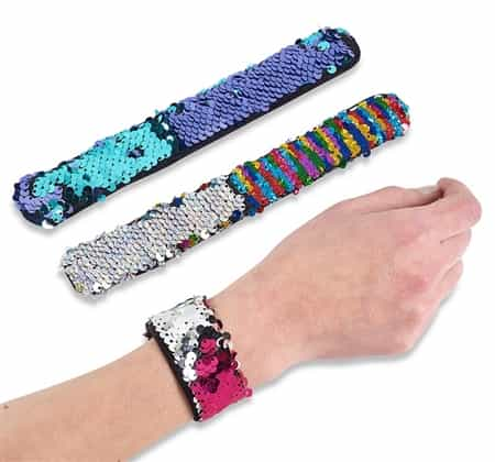 Top Trenz Reversible Sequin Slap Bracelets