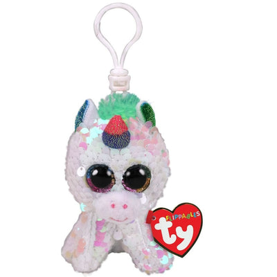 TY FLIPPABLES PIXY UNICORN WHITE CLIP