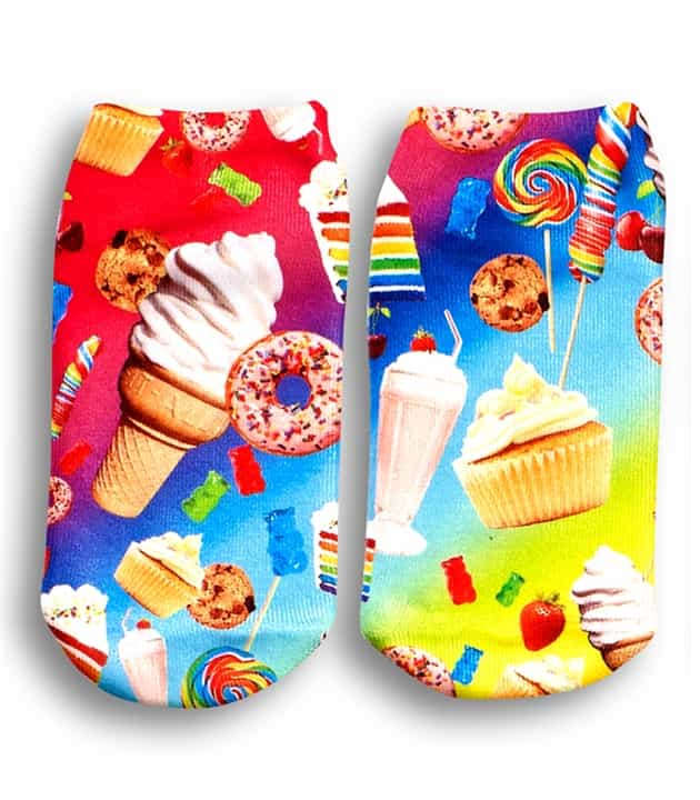 Top Trenz Ankle Socks Tasty Print