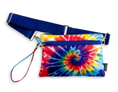 Top Trenz Tie Dye Spiral Puffer 2 in 1 Pouch or Belt Bag