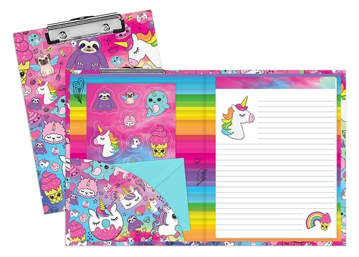 Top Trenz Unicorn Stationery Clipboard Set