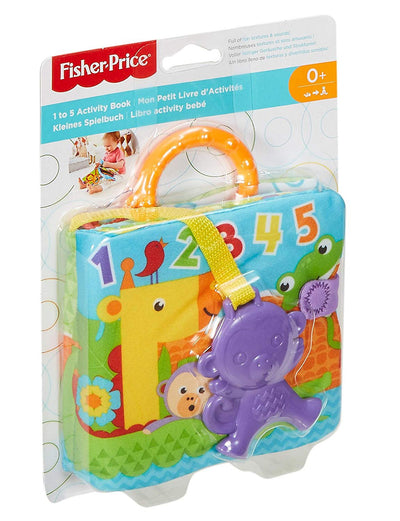fisher price  1 TO 5 ACTIVITY BOOK with monkey teether