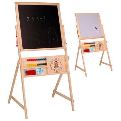 SCHOOLBORD HOUT 2 IN 1 115x56.5x50 CM