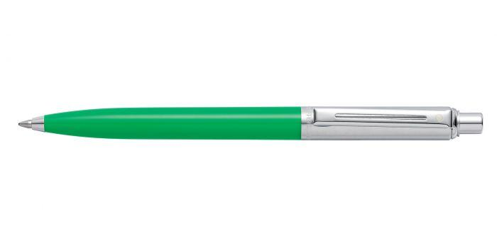 Sheaffer Sentinel Chrome and Bright Green Barrel Ballpoint Pen