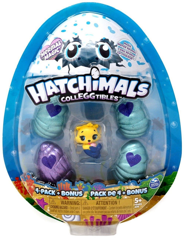 Hatchimals CollEGGtibles Mermal Magic 4Pk+Bonus