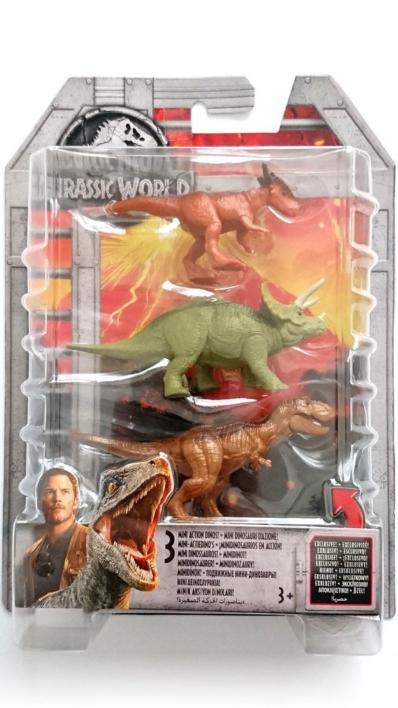 Jurassic World 3 Action Dinos Asst