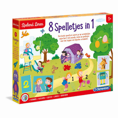 LEERSPEL 8 SPELLETJES IN 1