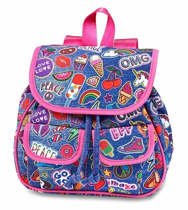 Top Trenz Mini Backpack Denim Patch