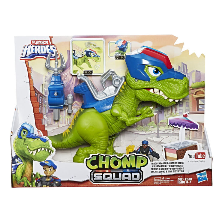 PlaySkool Heroes Chomp Squad Troopersaurus & Bobby Badge