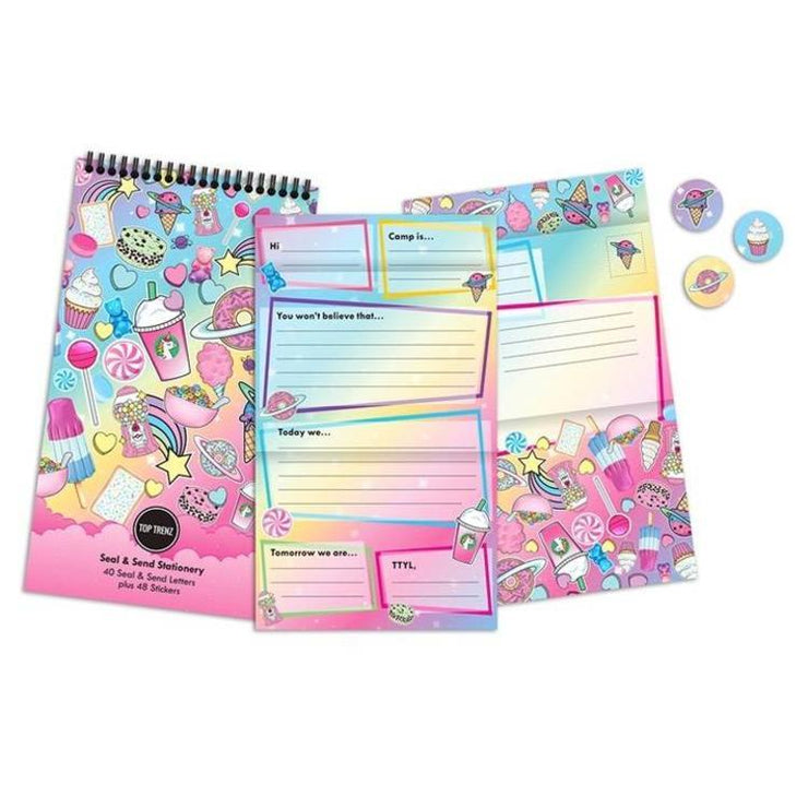 Top Trenz Sweet Planet Seal & Send Camp Stationery