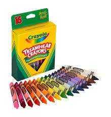 CRAYOLA TRIANGULAR CRAYONS 16 UNITS