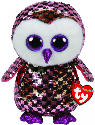 TY FLIPPABLES CHECKERS OWL