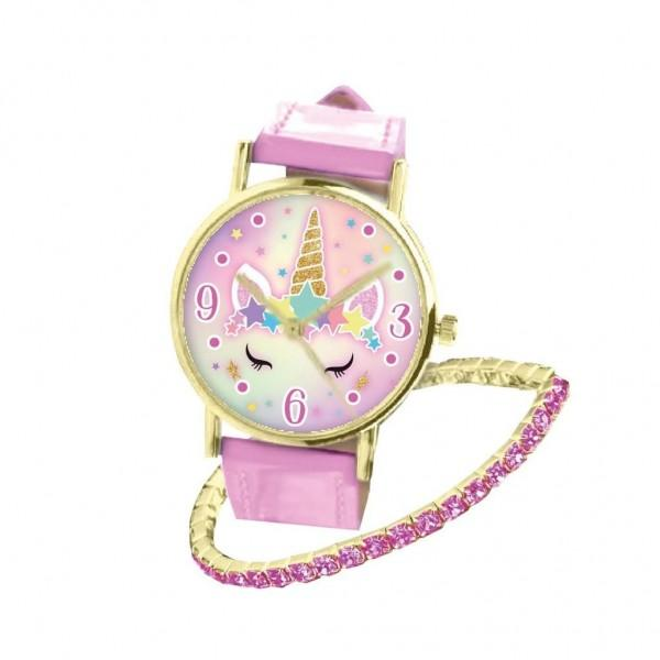 Unicorn Watch With Pink Bracelets