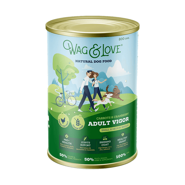Wag & Love ® Adult Vigor Carrots & Cranberry (Small & Medium Breeds)