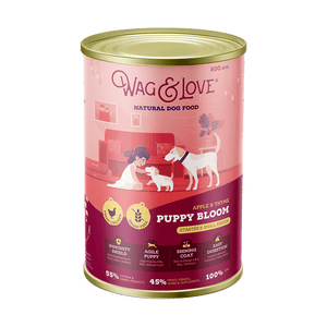 Wag & Love ® Puppy Bloom Apple & Thyme Puppy Food (Starter & Small Breeds)