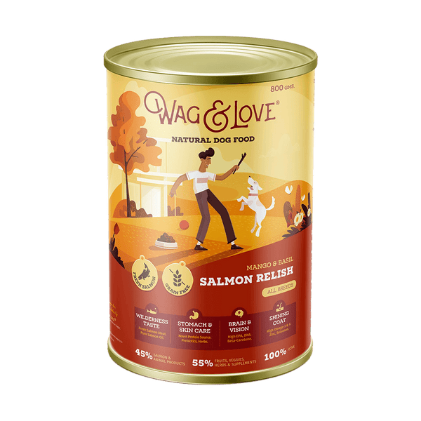 Wag & Love ® Dog Food Mango & Basil Salmon Relish (All Breeds)