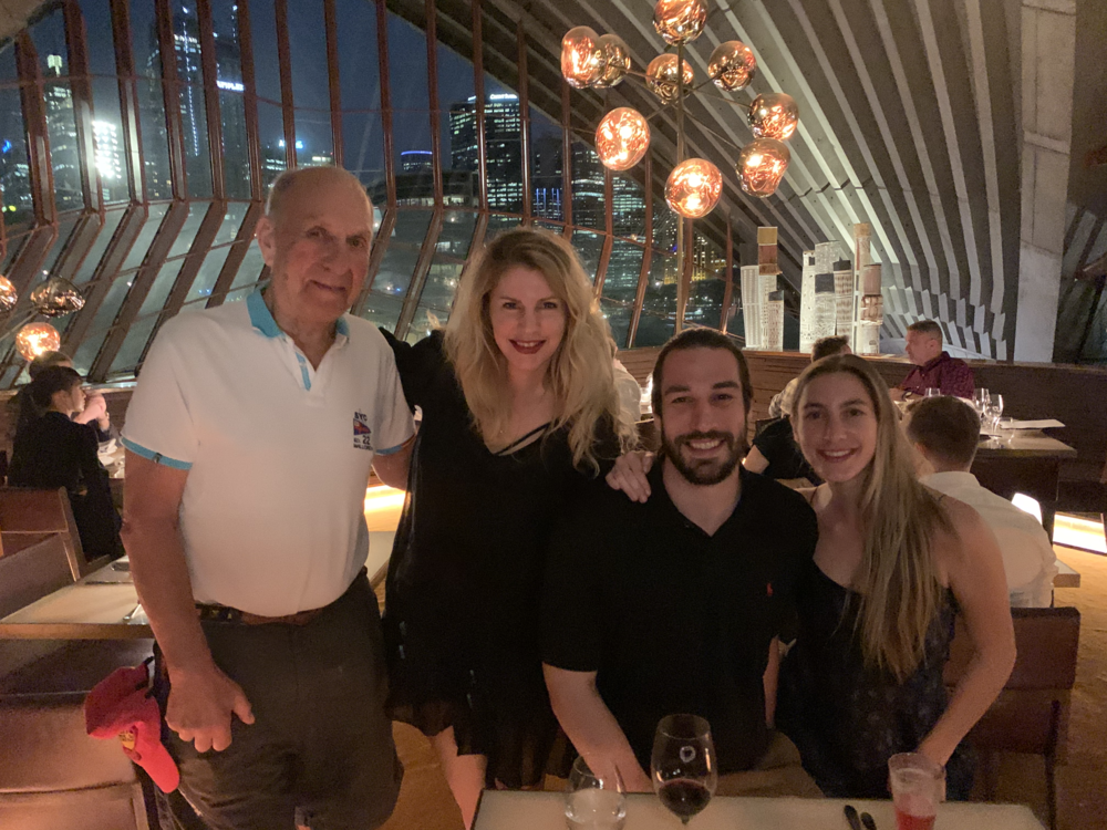 Family dinner at the Sydney Opera House