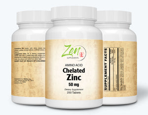 Zinc (Amino Acid Chelated) 50mg - 250 Tabs