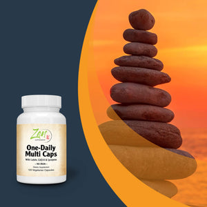 One Daily Multi-Vitamin (Iron Free) - With Lutein, Lycopene & CoQ10 - 120 Vegcaps
